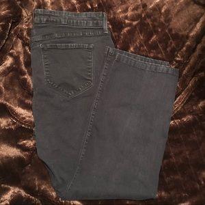NYDJ Marilyn Straight black denim jeans size 18W